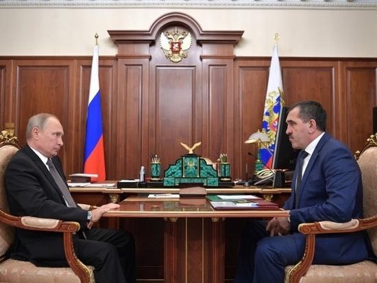 Владимир Путин принял в Кремле Юнус-Бека Евкурова